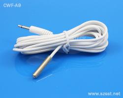 Cabo de PVC branco Ficha áudio de 2,5mm Sensor de temperatura NTC