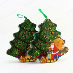 Festival Decoratie Kerst Tree Shape Tin Box Gifts Groothandel
