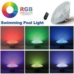 LEIDEN van het Zwembad Licht Glas 12V 20W PAR56 270LEDs RGB met Verre Control<Sb8001>