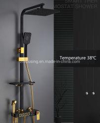 Cabezal de ducha termostática Digital establecida en caliente del grifo LED pasivos Termómetro de agua de baño de niños Baby Shower
