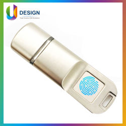 고속 금속 USB 펜 드라이브 컴퓨터 펜 드라이브 USB 3.0 플래시 드라이브 암호화 지문 보호 정보