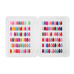 Il caso di mostra professionale del salone del manicure, gel falso di 120 PCS capovolge il diagramma di colore del chiodo di resistenza all'usura