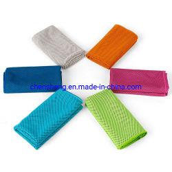 Maßgeschneiderte Größe Mikrofaser Kleine Turnhalle Sport Fitness Eis Kälte Kühlung Handtuch mit Logo für Yoga Gym Running