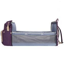 Diaper maman sac à dos Sac de Voyage Lit bébé Bag avec bassinette & Changing Pad