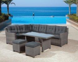 좋은 판매 등나무 의자 고품질 UV 저항하는 연약한 깊은 방석 뒤뜰은 안뜰 현대 정원 옥외 가정 가구를 이완한다