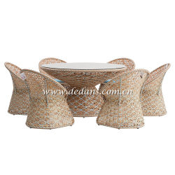 La Provenza, tejido de mimbre mesa de comedor y sillas de comedor