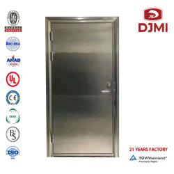 Nueva seguridad exterior de acero simple fábrica Guangzhou Puertas Especiales de la puerta de fuego tipo