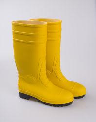 Amarelo para a segurança de borracha Steel Toe Goma Trabalho inicializa o homem