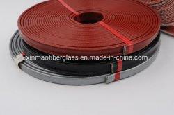 Manguera de cable de tubo de protección de la protección térmica de fibra de vidrio recubierto de caucho de silicona ignífuga trenzada de protección de aislamiento térmico de la camisa de fuego