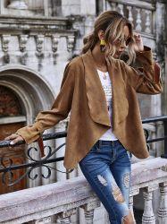 Blusa feminina casual Jackets Mulheres Fino design curto Suit Casacos Senhora Office mulheres cubra