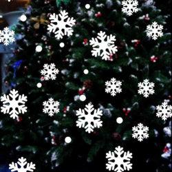 Съемное окно Рождества цепляется Custom снежинки стены Санта Клауса таблички