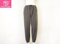 Женщин повседневный ослабление поясом спортивные брюки сплошным цветом Sweatpants Мешковатых Ankle-Length брюки черный серый