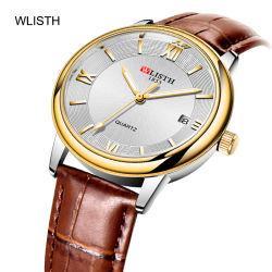 Regardez les hommes Wlisth lumineux ultra léger mécanique automatique du calendrier d'affaires décontractée 2019 Nouveau Bracelet en cuir de la mode pour hommes