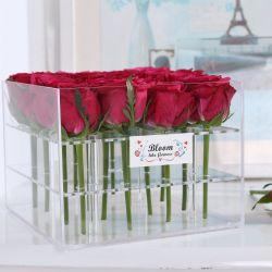 アクリルの花ボックスゆとりの正方形の結婚式の装飾のギフト用の箱をカスタマイズしなさい