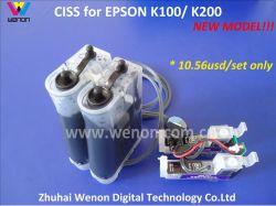 Непрерывная система подачи чернил для Epson K100/K200 с чипом (WN-T1371)