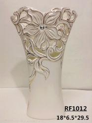 Élégant Silver & Gold placage vase en porcelaine fine
