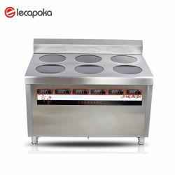 電気支えがない6head誘導のヌードルの炊事道具すべての金属の誘導の炊事道具の高い炊事道具
