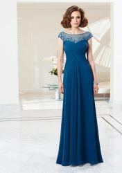 Veja através da Mãe do vestido de noiva para casamento Chiffon Manga da pac vestido de Madrinha