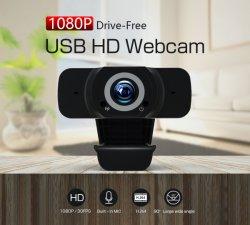 Comercio al por mayor Driverless Micrófono incorporado de 1080P HD PC Web Cam Webcam En directo
