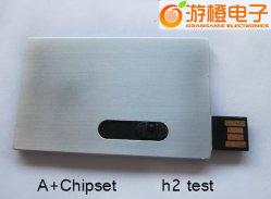 カスタマイズされたロゴのMetall物質的な小型クレジットカードUSBのフラッシュ(OM-P503)