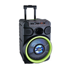 """12"""" Home Theater LED Profissional Amplificador Digital Multicolor Discoteca Woofer de Esferas Karaoke Carrinho parte activa da bateria do alto-falante de áudio com Bluetooth sem fio"""