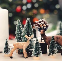 クリスマスツリー10*5 Cm 15*6 Cm 20*8 Cm 25*10 Cmのヒマラヤスギのデスクトップの小さいクリスマスツリーのデスクトップのWindowsの表示ギフトのクリスマスDecoration