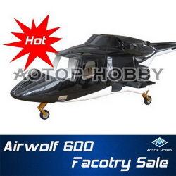 Escala de helicóptero da fuselagem Airwolf 600