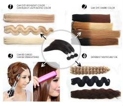 優れた品質のバージンのインドの毛の織り方のRemyの人間の毛髪の織り方