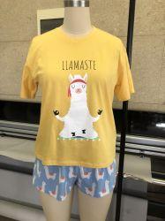 De Katoenen van 100% het Leuke Gele T-shirt van Af:drukken en Kostuum van Borrels