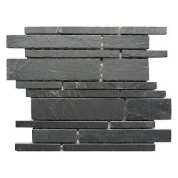 Нерегулярные газа камня стены плиткой Waterjet Micro Slate мозаика из камня