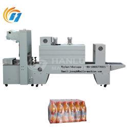 Aço inoxidável Auotomatic semi-Aquecimento película PE garrafa de água do envolvedor da luva shrink wrapping máquina máquina de embalagem de filme com o túnel de encolhimento térmico