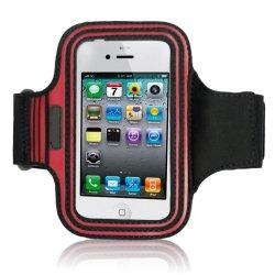 حقيبة رفيعة المستوى لأرمستيد الذراع الرياضية للهاتف المحمول ذات الجودة العالية، على شكل شبكة العنكبوتية تسمح بمرور الهواء أسود لـ iPhone 4S iPod
