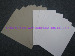 220--400gms Duplex-Papier, Grau/Weißes Karton