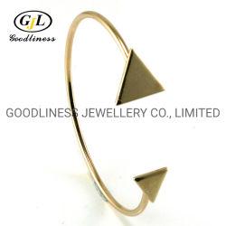 Le plomb&Nickle plaine plaqué Or jaune gratuit 925 Sterling Silver Triangle bracelets pour les femmes