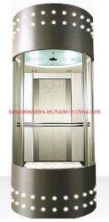 Elevador de pasajeros de vidrio laminado Sightseeing 1600kg Ascensor