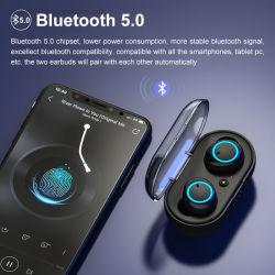 Tws zutreffende drahtlose Earbuds Bluetooth 5.0 Stereolithographie des Kopfhörer-3D mit den Mikrofon-Freisprechkopfhörern wasserdicht für iPhone12, Samsung, Huawei