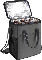 6 бутылки вина перевозчика изолированы от утечек мягкое вино женская сумка для переноски охладителя для поездки в походах и устроить пикник