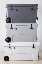 Rotomolded Kühlvorrichtung-Kasten mit Rädern und Griff für das Halten der Nahrung frisch