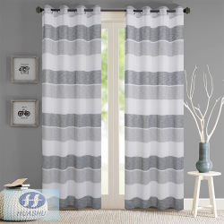 Rayures horizontales colorées en polyester Tissu Sheer fenêtre/ Rideau - #2088