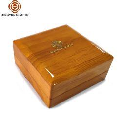 Conception de logo personnalisé en bois Pendentif Bague de boîtier de chaîne de la taille de stockage de l'organiseur Multi Bijoux boîte Boîte d'emballage en bois