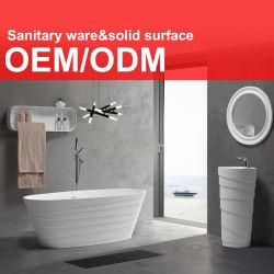 Haut de gamme moderne de luxe de la pierre artificielle de la résine acrylique Surface solides Corian Salle de bains articles sanitaires