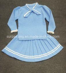 Viento británica se adaptan a las prendas de vestir traje de alta calidad a los estudiantes de la industria de prendas de vestir ropa de niños de Prendas de Vestir Baby Girl Juegos de Invierno de tejer ropa de bebé