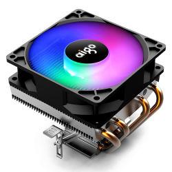 RGB dissipador de calor PWM Líquido de Refrigeração brilhante de cor alumínio automático do ventilador da CPU do Resfriador