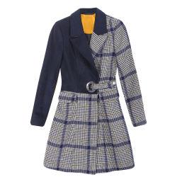 Invierno de alta calidad de lana de señoras mujeres anhelan sobretodo