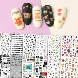 Ins de Hete Spijker van de Verkoop draagt Stickers kleurt de Leuke Overdrukplaatjes van de Stickers van de Spijker van Kinderen In het groot 3D Zelfklevende Waterdichte