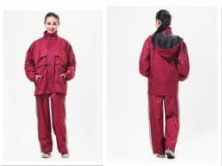 大人用衣服レインスーツ / ポリエステルレインコート 210t / ファッションレインコート / ナイロンレインコート / ポリエステルレインウェア 乗馬やアウトドアに適したレインコート、パンツ