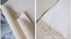 جودة عالية قماش فني رخيص لبنية من الكتان الرسم