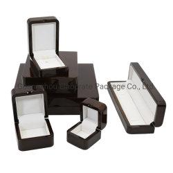 Finition brillante Noir Piano de luxe en bois massif Bijoux Emballage petit bijou des boîtes de jeu de commerce de gros