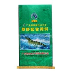 China Lieferant BOPP laminiert hohe Qualität PP Kunststoff gewobene Sack Beutel Verpackung für Meeresfrüchte Garnelen Futtermittel Reis Zucker Lebensmittel Chemikalien Dünger