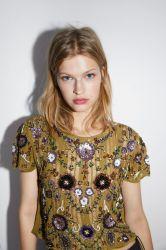 Dames gebreide ronde hals modekleding Knitwear met Beadings